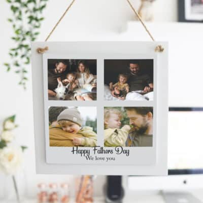 Personalised Happy Father's Day Wooden Hanging Sign