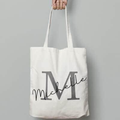 Personalised Initial Signature Tote Bag