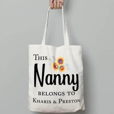 Personalised This Nanny tote Bag