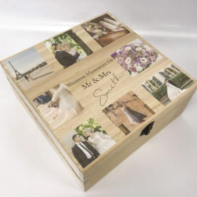 Personalised Wedding Memories Deep Wooden Box