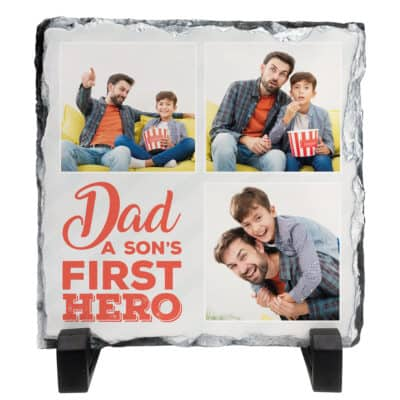 Personalised A Son's First Hero Slate
