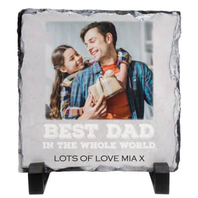 Personalised Best Dad In The Whole World Slate