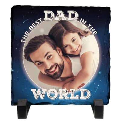 Personalised Best Dad In The World Slate