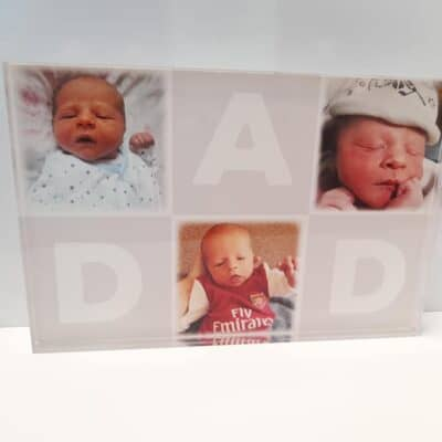 Personalised Dad Collage Clear Acrylic Photo Block