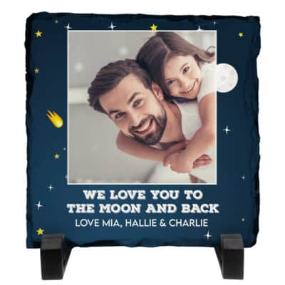 Personalised Moon And Back Slate