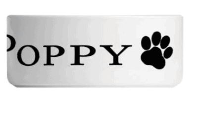 Personalised Paw Print Dog/Cat Pet Bowl