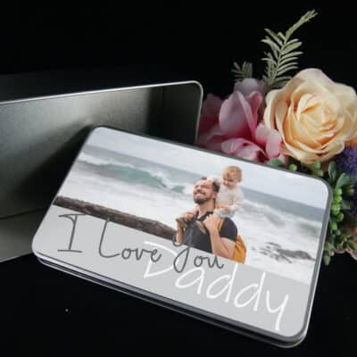 Personalised I Love You Daddy Tin
