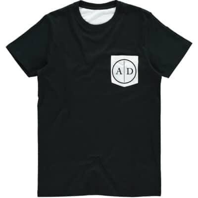Personalised Mens Initials Circle Pocket T-Shirt