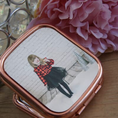 Personalised Photo Only Rose Gold Compact Mirror