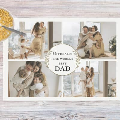Personalised Worlds Best Dad Chopping Board