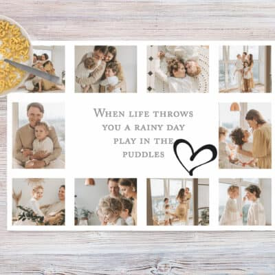 Personalised When Life Throws You A Rainy Day Chopping Board