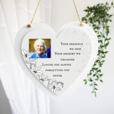 Personalised Loving You Always Luxury Wooden Hanging Heart