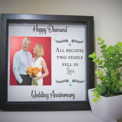 Personalised Anniversary Deep Box Frame