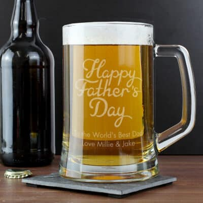 Personalised Happy Father's Day Pint Stern Tankard