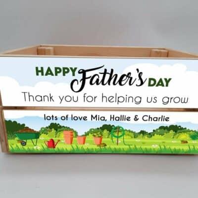 Personalised Helping Us Grow Crate