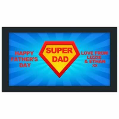 Personalised Super Dad Bar Runner
