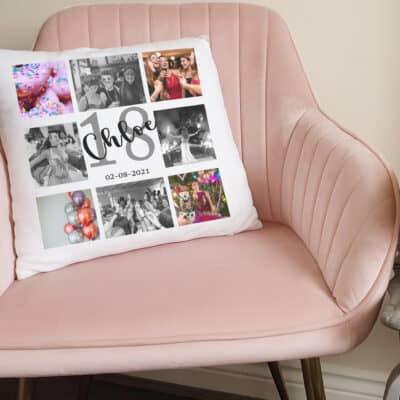 Personalised Birthday Signature Cushion