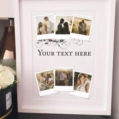 Personalised Polaroid Any Text Design