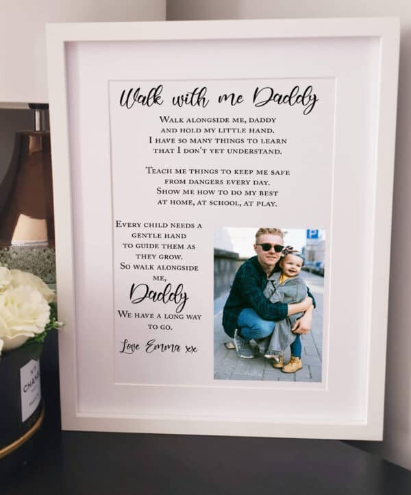 Personalised Walk With Me Daddy Photo Design