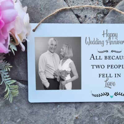Personalised Wedding Anniversary Hanging Sign