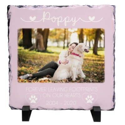Personalised Forever Leaving Footprints On Our Hearts Slate
