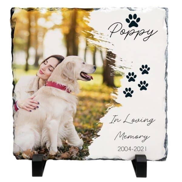 Personalised In Loving Memory Pet Design 2 Slate