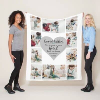 Personalised Grandchildren Fill A Space In Your Heart Polor Fleece Blanket
