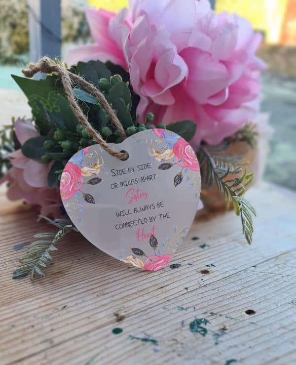 Personalised Side By Side Heart Ornament