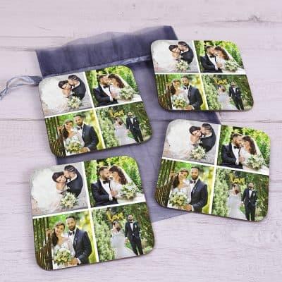Personalised Four Photo Coaster Set