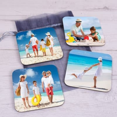 Personalised Photos Only Coaster Set