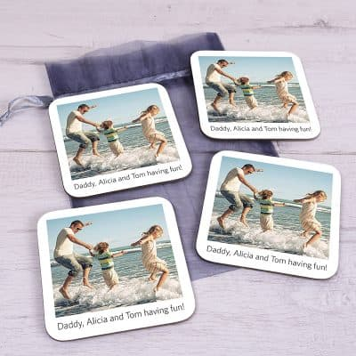 Personalised Poloroid Coaster Set