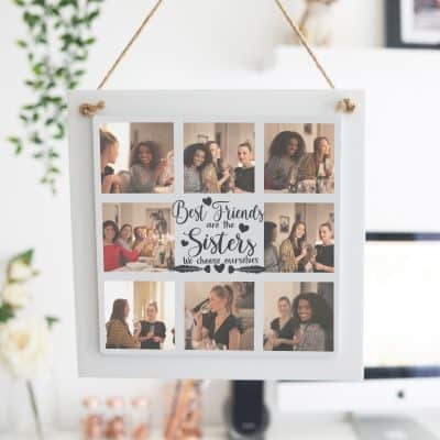 Personalised Sisters We Choose Ourselves Wooden Hanging Sign