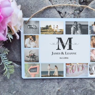 Personalised Initial Collage Hanging Sign