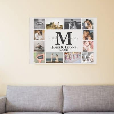Personalised Initial Collage Design