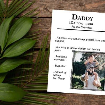 Personalised Daddy Noun Design