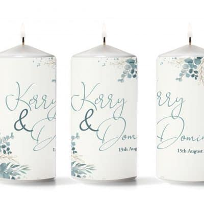 Personalised Couples Pillar Candle
