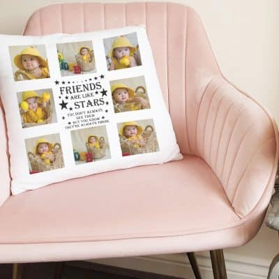 Personalised Friends Are Like Stars Cushion