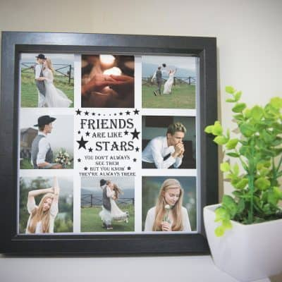 Personalised Friends Are Like Stars Deep Box Frame