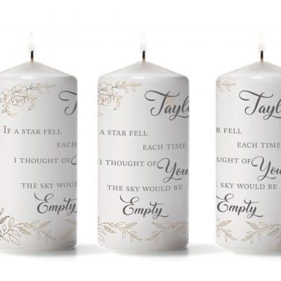 Personalised If A Star Fell Pillar Candle