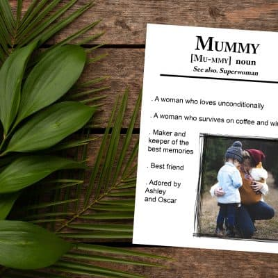 Personalised Mummy Noun Design