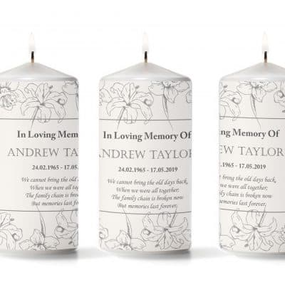 Personalised We Cannot Bring The Old Days Back Pillar Candle