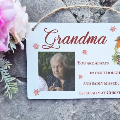 Personalised You Are Always In Our Thoughts Hanging Sign