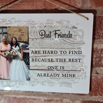 Personalised Best Friends Hanging Sign