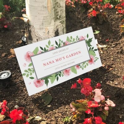 Personalised Roses Acrylic Garden Sign
