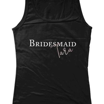 Personalised Wedding Role Ladies Tank Top