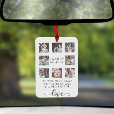 Personalised Family Crazy Love Air Freshener