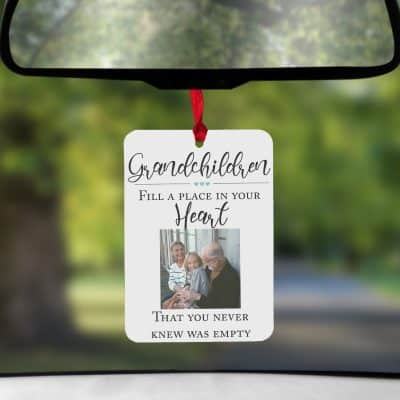 Personalised Grandchildren Fill A Place In Your Heart Air Freshener