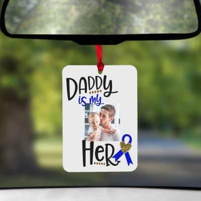 Personalised Daddy Is My Hero Air Freshener