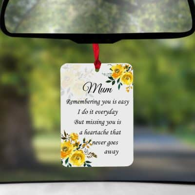 Personalised Remembering You Is Easy Air Freshener
