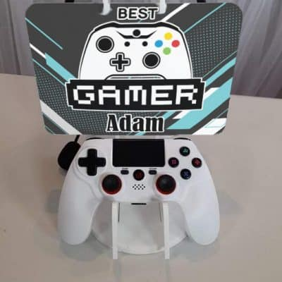 Personalised Best Gamer Acrylic Gaming Station